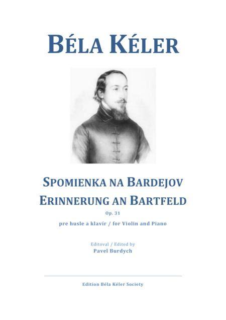 Brtfai Emlk Csrds Erinnerung An Bartfeld Op 31  music sheet