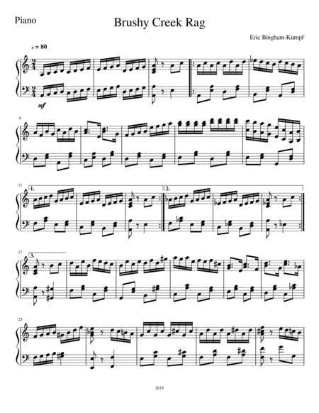 Brushy Creek Rag  music sheet