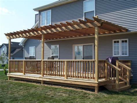 build a pergola on existing deck