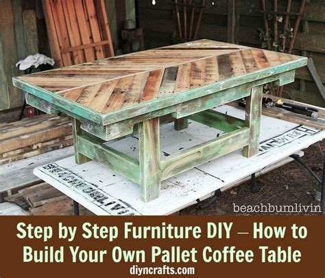 build your own pallet coffee table DIY Crafts