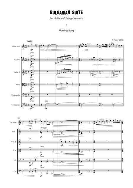 Bulgarian Suite For Violin And 13 Strings Full Score  music sheet