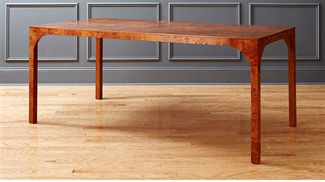 burl wood dining table CB2