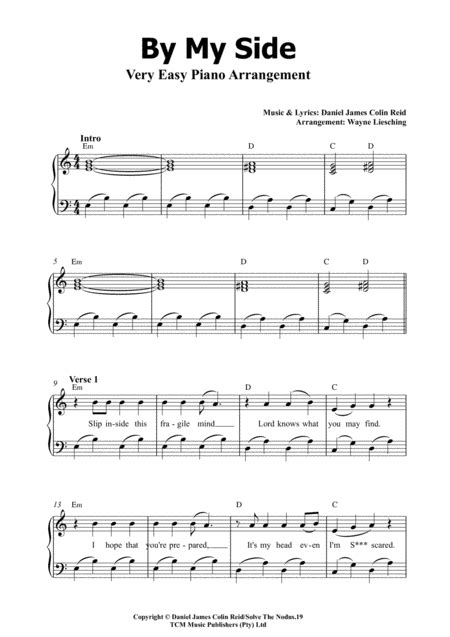 By My Side Easy Piano Arrangement  music sheet