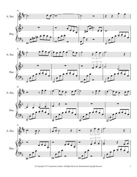 C Est La Vie By Elp For Alto Saxophone And Piano Accompaniment music sheet
