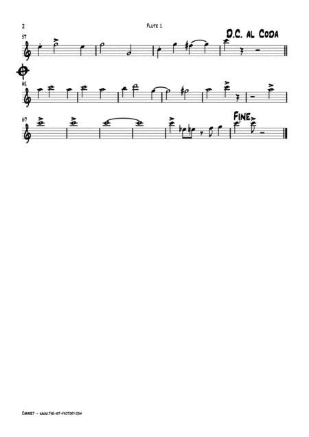 Cabaret Jazz Liza Minelli Flute Quintet  music sheet