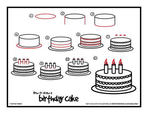 cakes Archives How to Draw Step by Step Drawing Tutorials