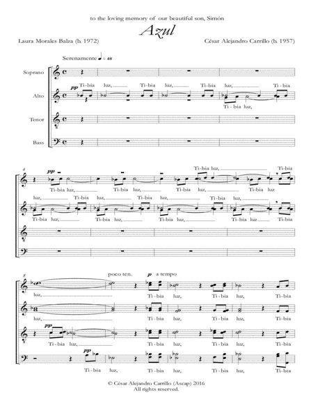 Cancion Del Diablo Azul Digital Print  music sheet