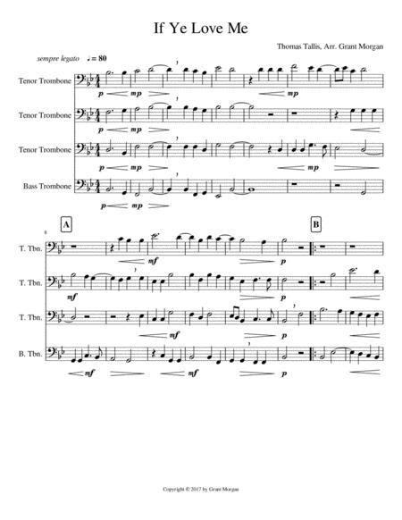 Cant Buy Me Love For Trombone Quartet  music sheet