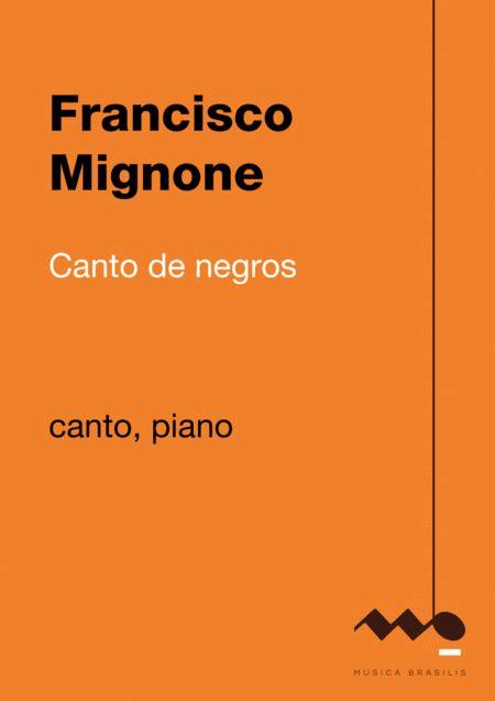 Canto De Negros  music sheet