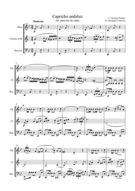 Capricho Andaluz  music sheet