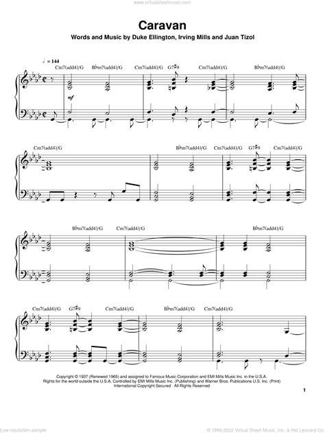 Caravan Piano Solo  music sheet