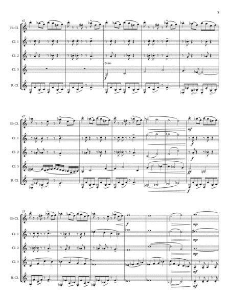 Carnival Dance For Clarinet Quintet Choir  music sheet