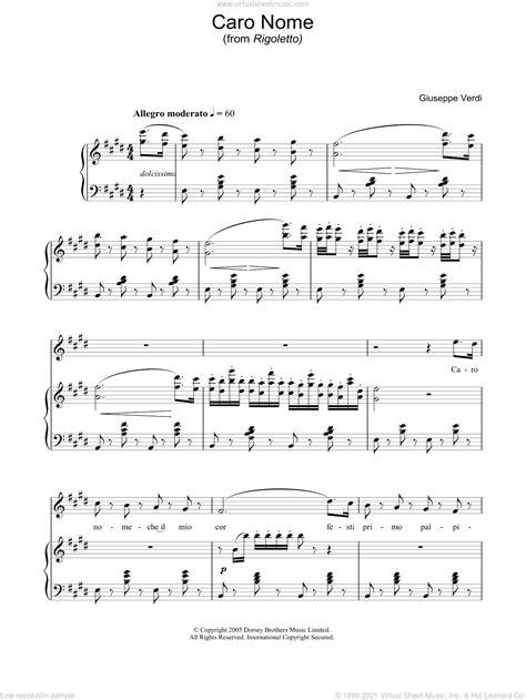 Caro Nome  music sheet