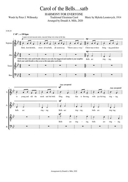 carol carol christians satb music sheet