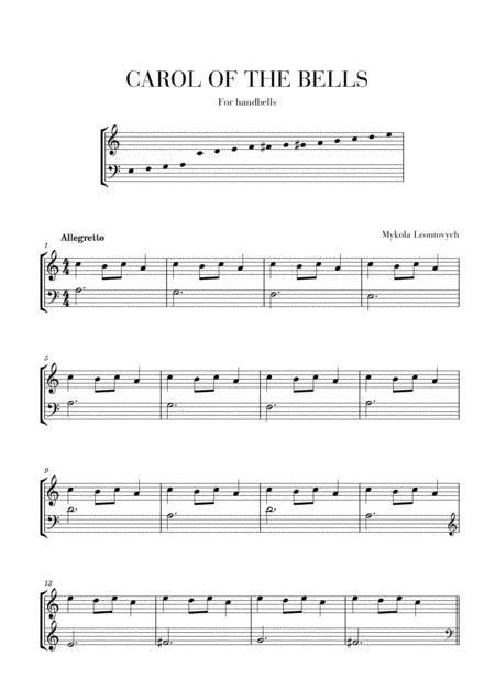 Carol Of The Bells For 2 Octave Handbells  music sheet