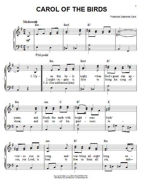 Carol Of The Birds Baritone Sax And Piano  music sheet