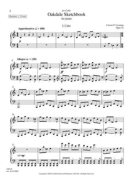 Carson Cooman Suite For Jay For Piano  music sheet