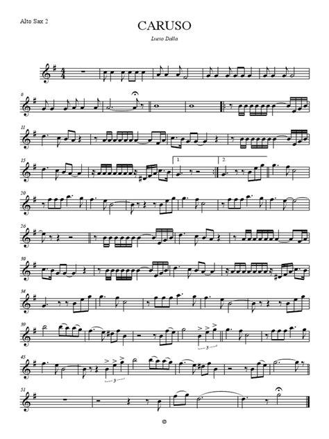 Caruso For Alto Sax And Piano  music sheet