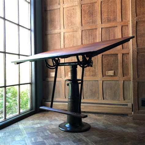 cast iron drafting table Antiques US