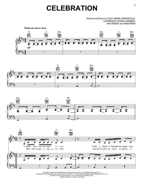 Celebrate Celebrate  music sheet