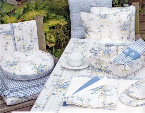chair seat pads with matching Linen Lace Patchwork