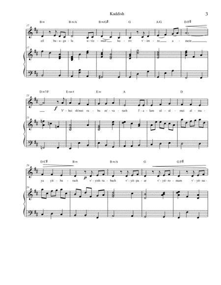 Chatzi Kaddish  music sheet