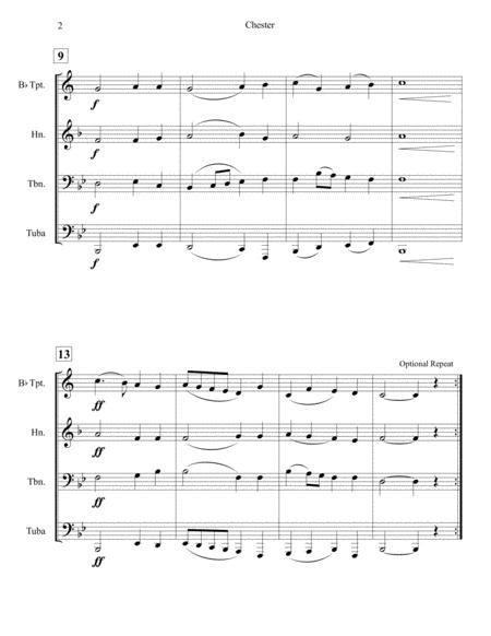 Chester Brass Quartet  music sheet
