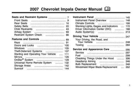 free download ebooks Chevrolet Caprice Owner Manual.pdf