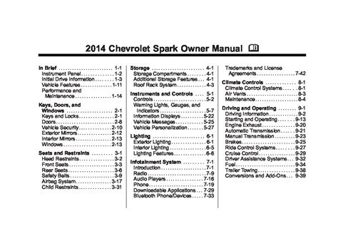 free download ebooks Chevy Spark User Manual.pdf