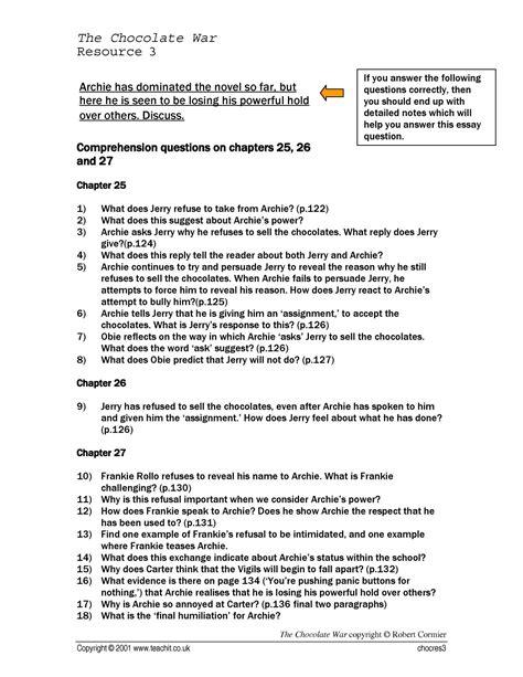 free download ebooks Chocolate War Study Guide Answers.pdf