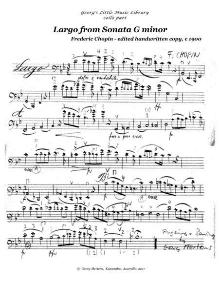 Chopin Largo From Cello Sonata For Cello Guitar  music sheet