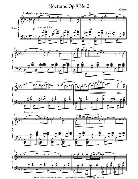 Chopin Nocturne Op 9 No 2 In Eb Major Original Complete Version  music sheet