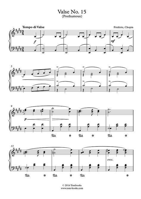 Chopin Waltz In E Major No 15 B 44 Op Posth Complete Version  music sheet