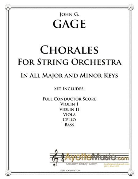Chorales For String Orchestra In All Major And Minor Keys  music sheet