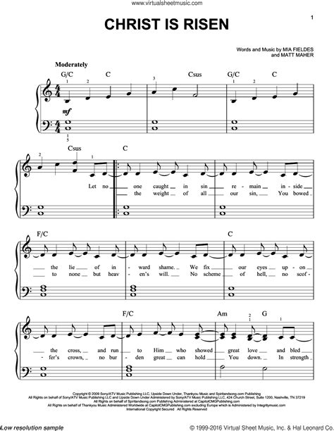 Christ Is Risen Vocal Solo  music sheet
