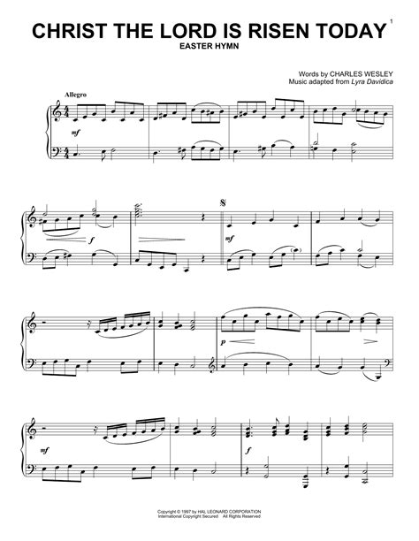 Christ The Lord Is Risen Today Easter Brass Quartet  music sheet