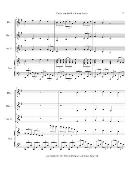 Christ The Lord Is Risen Today Trio For Flute Horn In F And Piano  music sheet