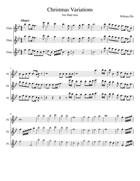 Christmas Adventures For Flute And Piano  music sheet