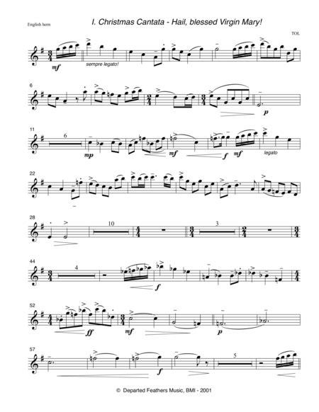 Christmas Cantata 2001 Rev 2014 For Satb Chorus 2 Oboes Eng Horn 2 Bassoons Timpani And Organ  music sheet