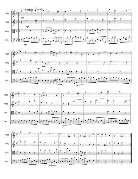 Christmas Concerto Corelli Op 6 N 8 Arr For String Quartet With Parts  music sheet