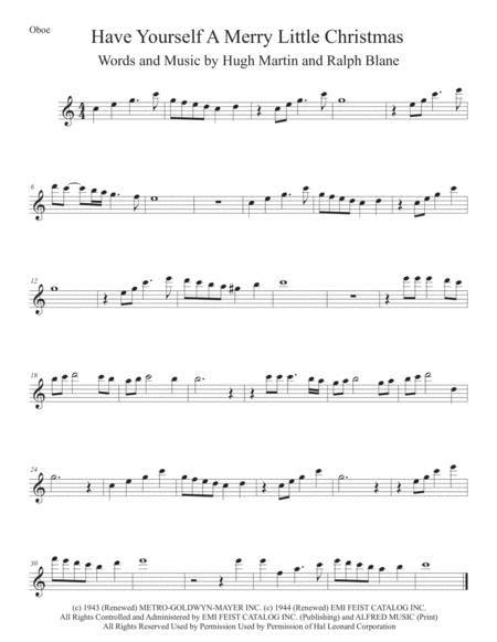 Christmas Day Easy Key Of C Oboe  music sheet