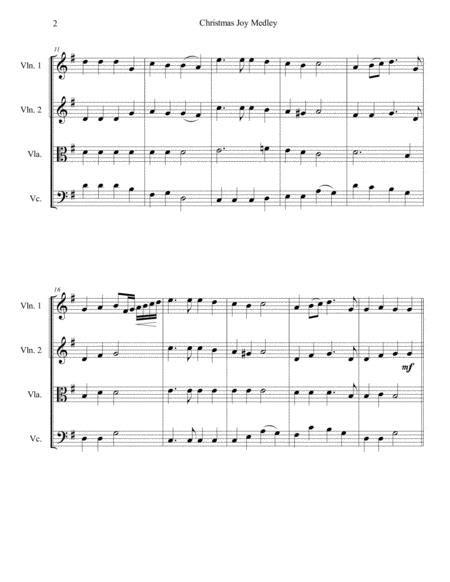 Christmas Joy Medley For String Quartet  music sheet