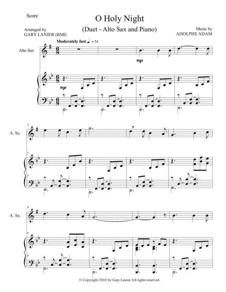 Christmas Splendor Suite Baritone Sax And Piano With Score Parts music sheet