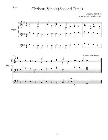 Christus Vincit Second Tune Alternate Harmonization For Organ  music sheet