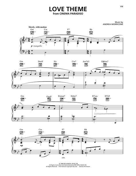 Cinema Paradiso Love Theme Piano Solo  music sheet