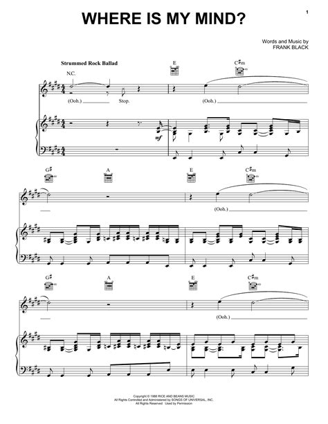 clear my mind piano book music sheet