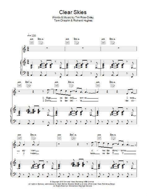 Clearer Skies  music sheet
