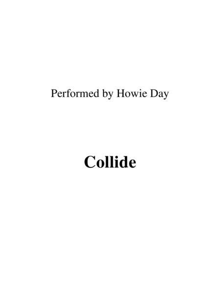 Collide Lead Sheet Performed By Howie Day  music sheet