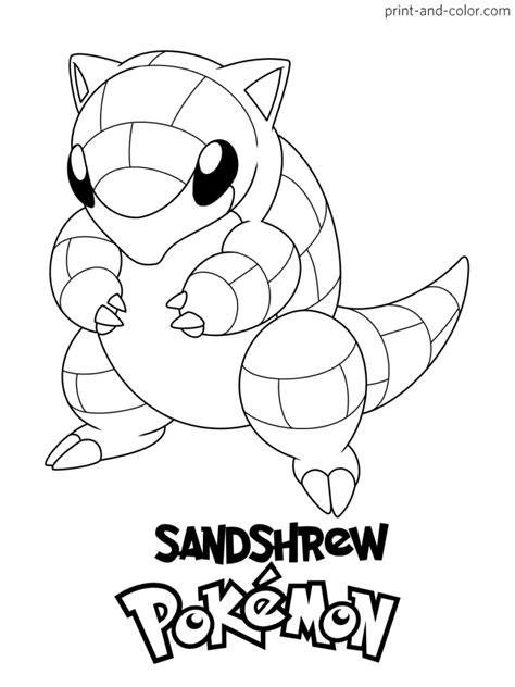 color Pokemon Coloring Pages for Kids