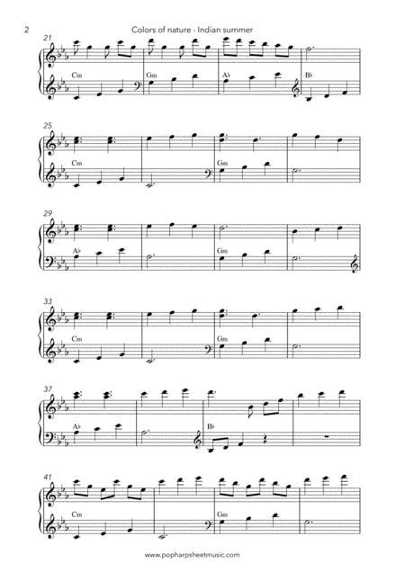 Colors Of Nature Indian Summer Harp Solo  music sheet